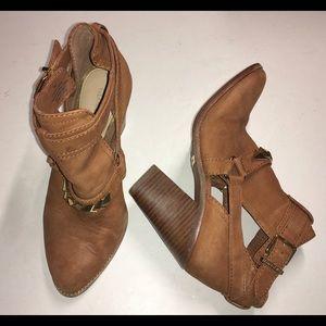 GIANNI BINI caramel nubuck ankle boots